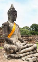Old image buddha destroyed in Ayutthaya
