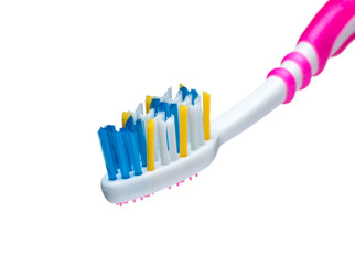 Red toothbrush bristles with color