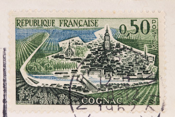 Old French post stamp