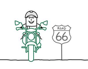 Fotomurales - Biker on the road