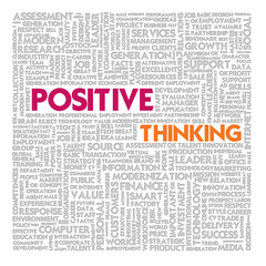 Word cloud for business and finance concept, Positive Thinking