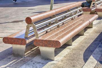 modern bench red granite