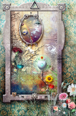 Canvas Prints Imagination Window in the fairyland