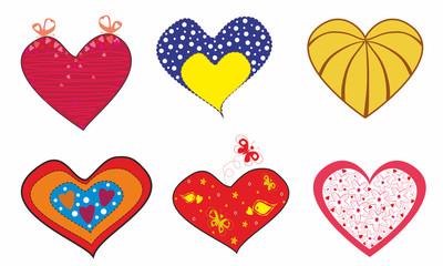 Original hearts for lovers.Vector illustration