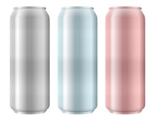 aluminum cans set
