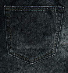 Black denim fabric with Pocket
