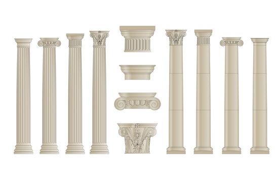 set of classic columns