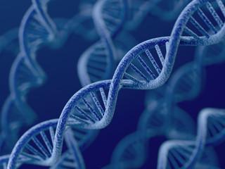 DNA on blue background