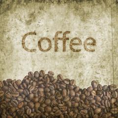 Grunge coffee background