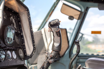 The handle of driving by helicopter