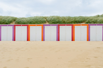 Wall Mural - Beach cabines in Domburg