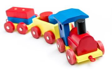 Lokomotive aus Holz