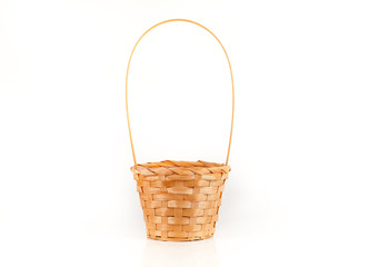 Isolating the basket on a white background