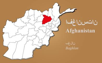 Afghanistan Baghlan hervorgehoben