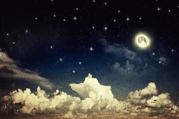 Vintage night sky