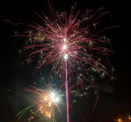 Beautiful firework at night