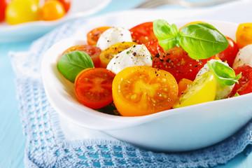 Bowl of a fresh and healthy Mediterranean salad