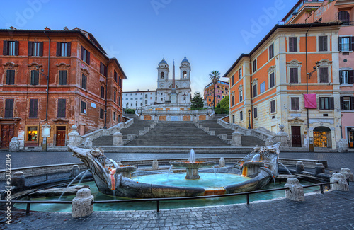 Wall mural Spanish Steps in Rome. Italy.