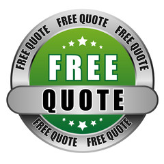 5 Star Button gruen FREE QUOTE DTO DTO