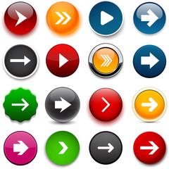 Round color arrow icons.