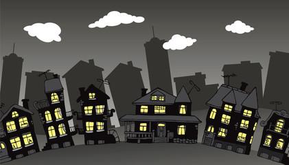 Village in the night