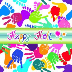 Colorful Happy Holi background