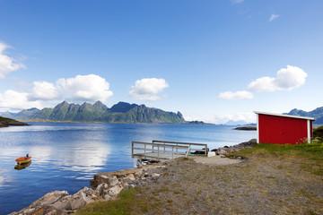 Fischerhütte in den  Lofoten