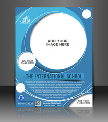 kids school promotion flyer, magazine cover