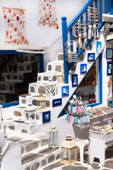 Detail image from a greek touristic shop on Mykonos island, Gree