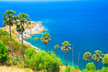 View point at Promthep cape in Phuket island of Thailand