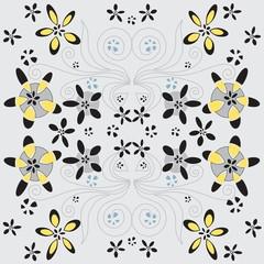 Retro floral seamless pattern (eps10)
