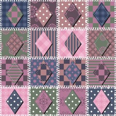 patchwork background with rhombs