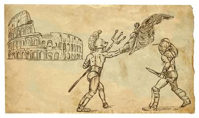 The scene of Italian culture: Gladiators