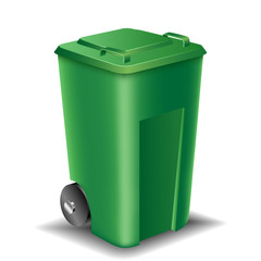 Green street trash can