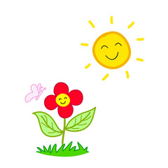 Weather - flower Sunshine day