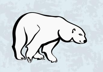 polar bear vector icons tattoo