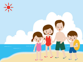 夏休み 海水浴