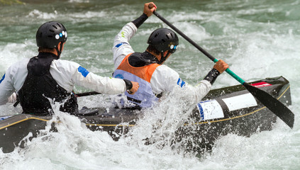 Fototapete - speed canoa