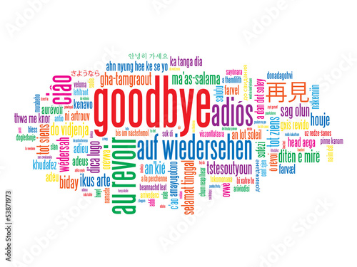 Image result for good bye word cloud