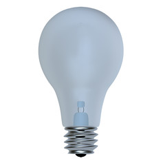 Light bulb, isolated for adv or others purpose use