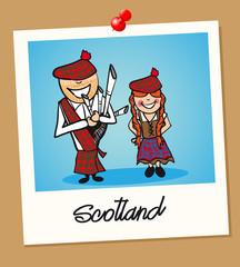 Scotland travel polaroid people