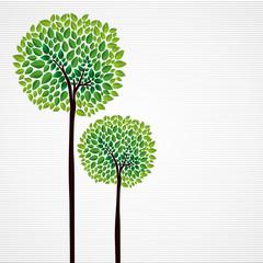 Wall Mural - Cute concept trees design