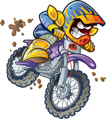 Fototapete - BMX Dirt Bike Rider