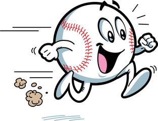 Happy Running Baseball