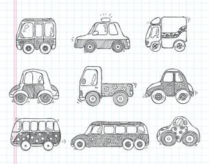 doodle transport car icons