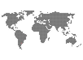 Pixelweltkarte mit Markierung von Buenos Aires