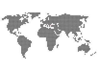 Pixelweltkarte mit Markierung von Istanbul