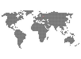 Pixelweltkarte mit Markierung von Moskau