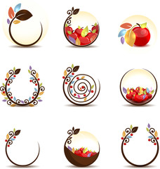 Abstract apple fruit concept