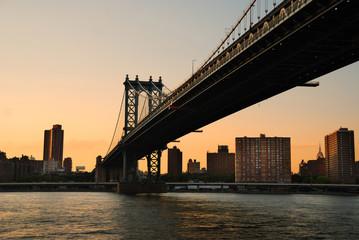Wall Mural - Manhattan Bridge sunset